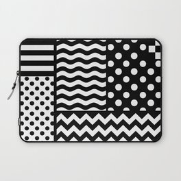 Mixed Patterns (Horizontal Stripes/Polka Dots/Wavy Stripes/Chevron/Checker) Laptop Sleeve
