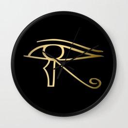 Eye of Horus Egyptian symbol Wall Clock