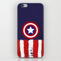 "steve rogers iPhone & iPod Skins featuring Captain ""Steve Rogers"" America by Some_Designs"