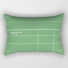 Library Card BSS 28 Negative Green Rectangular Pillow