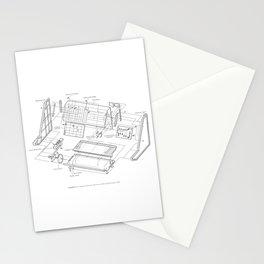 Korg MS-10 - exploded diagram Stationery Cards