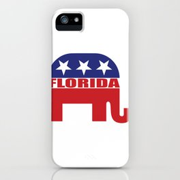 Florida Republican Elephant iPhone Case