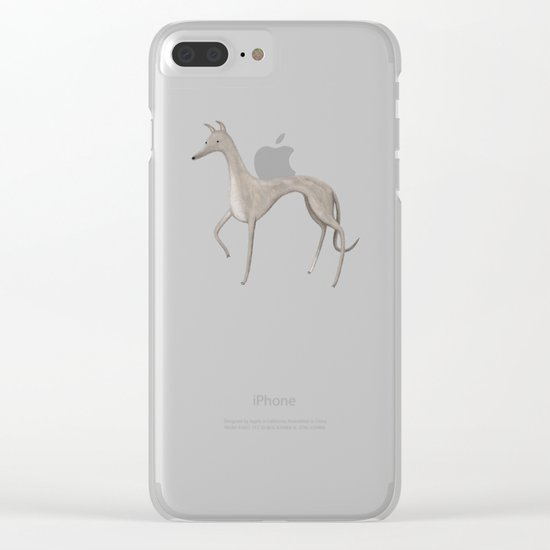 Whippet Portrait Clear iPhone Case