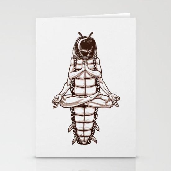 Caterpillar´s meditation Stationery Cards