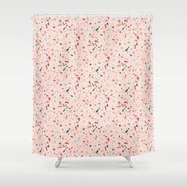 Terrazzo Pattern Design Shower Curtain