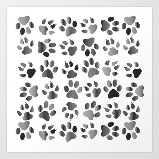 Muddy Paws Art Print