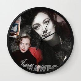 Joan Crawford Collage Portrait Wall Clock