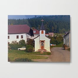 The village church of Hintenberg I | architectural photography Metal Print