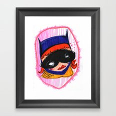 Batgirl in Love Framed Art Print