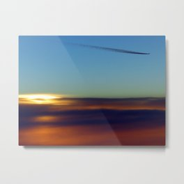 Contrail at Sunset Metal Print