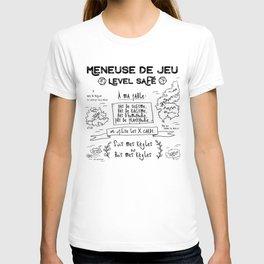 Meneuse de Jeu, level SAFE / Feminist French Roleplaying T-shirt