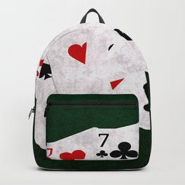 Poker Hand Full House Seven Five Backpack