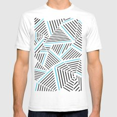 Ab Linear with Electric Mens Fitted Tee White SMALL