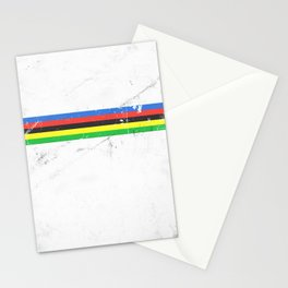 Jersey minimalist cycling Stationery Cards