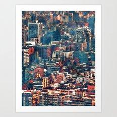 Continuous City Structures Art Print