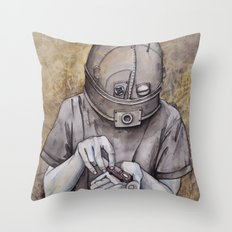 It starts early Throw Pillow