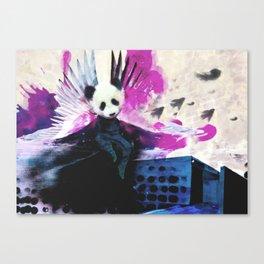 Flying panda angel Canvas Print