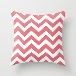 Candy pink - pink color - Zigzag Chevron Pattern Throw Pillow