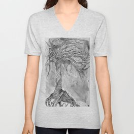 Tree of Life (Grey Scale) Unisex V-Neck