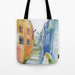 Lisbon Aquarelle No.1 Tote Bag