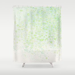 flavor of young leaves Shower Curtain