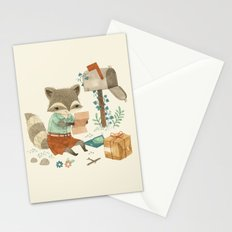 Raccoon Post Stationery Cards