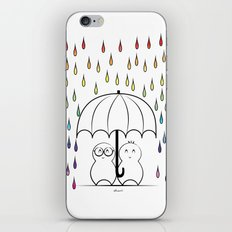 Mimos under Rainbow rain iPhone & iPod Skin