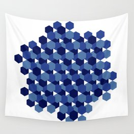 Hexagons Wall Tapestry