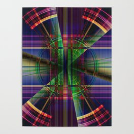 Plaid Movement 001 - Geometric - Unique Plaid - Colorful Plaid Poster