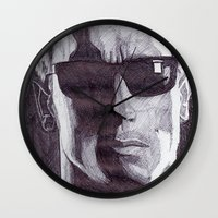 terminator Wall Clocks featuring Terminator by DeMoose_Art