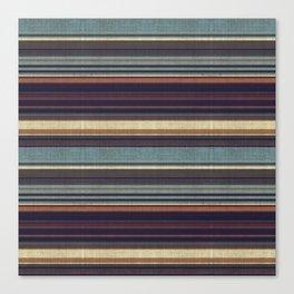 """""""Blue lines burlap"""" Canvas Print"""