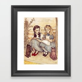 Dorothy and Alice Framed Art Print