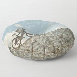 Mountain Biking Floor Pillow
