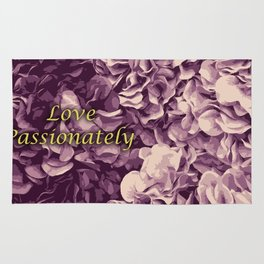 Flowers Love Passionately (Pink) Rug