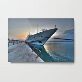 Super Yacht at Nafplion  Metal Print