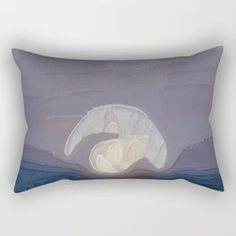 Visible By The Wheel Of Light Rectangular Pillow