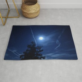 Full Moon and Contrails Rug