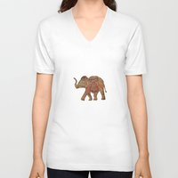 baby elephant V-neck T-shirts featuring  Elephant baby by valzart