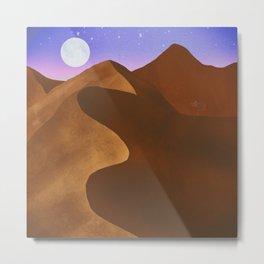 At night in the desert Metal Print