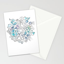 Colorful Sealife Stationery Cards