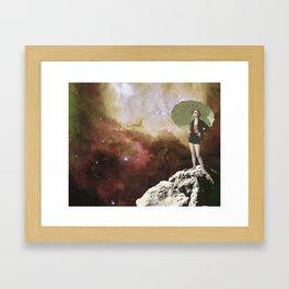 Lady in Space I Framed Art Print