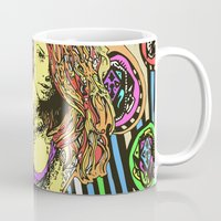 redhead Mugs featuring Redhead girl by Richart