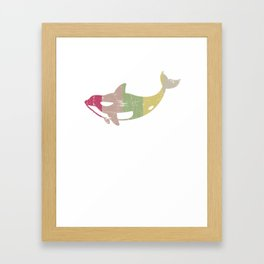 Retro Distressed Killer Whale Design for Orca Lovers Framed Art Print