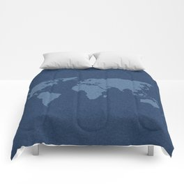 Denim Map Comforters
