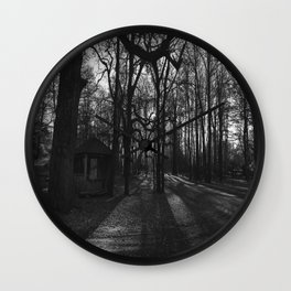 Forest at sunset Wall Clock