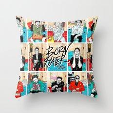 Born Hater Throw Pillow