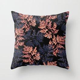 Autumn leaves on dark Throw Pillow
