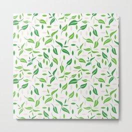 Tea leaves pattern Abstract Metal Print