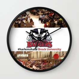 Brock University #HarlemShake Wall Clock