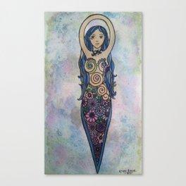 Floral spiral goddess painting Canvas Print
